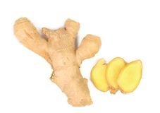 Fresh ginger and slices Stock Photography