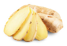 Fresh ginger slices Royalty Free Stock Photo