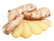 Fresh ginger slices Stock Photography