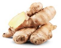 Fresh ginger slices Stock Photos