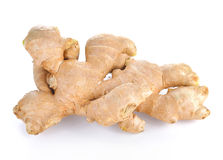 Fresh ginger on white background. Food and Healty Stock Image