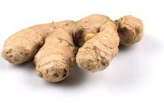 Fresh ginger on white background. Fresh organic ginger on a white background Stock Photography