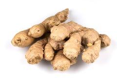 Fresh ginger on white background. Fresh organic ginger on a white background Stock Images