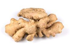 Fresh ginger on white background. Fresh organic ginger on a white background Royalty Free Stock Photography