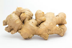 Fresh Ginger on White background Royalty Free Stock Photography