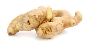 Fresh ginger on white background. Raw ginger  on white background Stock Image