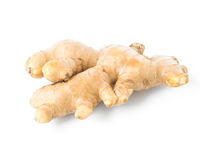 Fresh ginger on white background,raw material Stock Photos