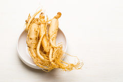 Fresh Ginseng sticks Royalty Free Stock Image
