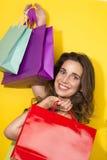 Fresh Girl enjoy shopping Stock Photos