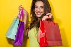 Fresh Girl enjoy shopping Stock Photo