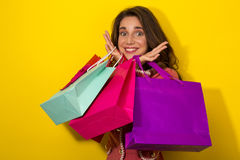 Fresh Girl enjoy shopping Royalty Free Stock Photos