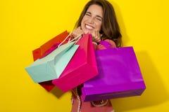 Fresh Girl enjoy shopping Royalty Free Stock Images