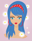 Fresh girl face Royalty Free Stock Photos