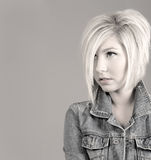 fresh girl hairstyle trendy young Στοκ φωτογραφίες με δικαίωμα ελεύθερης χρήσης