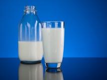Fresh Glass Cold Milk Stock Photos