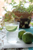 Fresh glass of water with lime Royalty Free Stock Photography