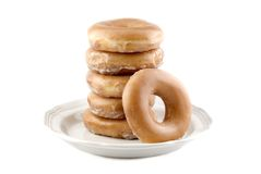 Fresh Glazed Doughnuts Stock Photos