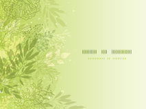 Fresh glowing spring plants horizontal background Stock Image