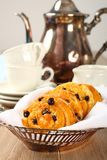 Fresh gluten free sweet swirl buns with raisins Royalty Free Stock Image