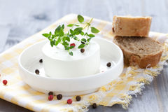 Fresh goat cheese Royalty Free Stock Images