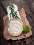 Fresh goat cheese Stock Photos
