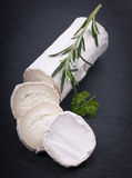 Fresh goat cheese royalty free stock photography
