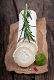 Fresh goat cheese stock photography