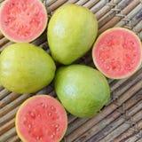 Fresh goiaba on wooden table Stock Image