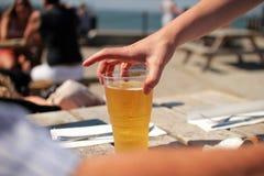 Fresh golden beer Stock Photos