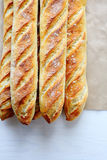 Fresh Golden French Breads Stock Images