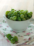 Fresh Gooseberry. Gooseberry in plate on a table Royalty Free Stock Photo