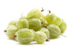 Fresh gooseberry. Object on white food - gooseberry stock image