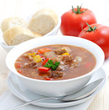 Fresh goulash with paprika Stock Photos