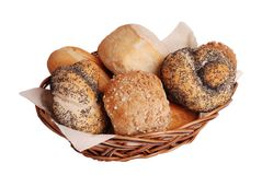 Fresh gourmet bread rolls Stock Photo