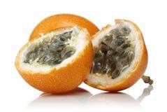 Fresh granadilla passion fruit isolated. On white background stock images