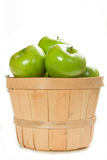 Fresh Granny Smith Apples. A Small Bushel of Fresh Granny Smith apples Stock Photos
