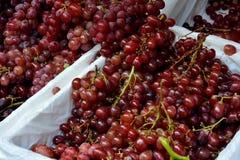 Fresh grape in basket Stock Photos