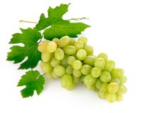 Fresh grape fruits with green leaves Royalty Free Stock Photo