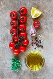 Fresh grape tomatoes Stock Photos