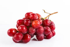 Fresh grape on white background Royalty Free Stock Images