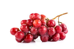 Fresh grape on white background Stock Images