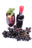 Fresh grape wine Royalty Free Stock Images