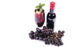 Fresh grape wine Stock Photos