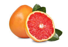 Fresh grapefruit. Fresh fruits grapefruit in cut  on white background Stock Photo