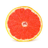 Fresh Grapefruit. On white background royalty free stock photo