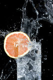 Fresh Grapefruit And Water Stock Image
