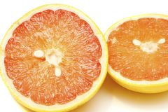 Fresh Grapefruit Cut in Half Royalty Free Stock Photos