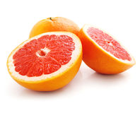 Fresh grapefruit fruit with cut Stock Images