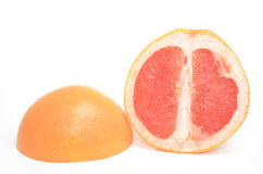 Fresh grapefruit. Fresh healthy grapefruit  on white Royalty Free Stock Photo