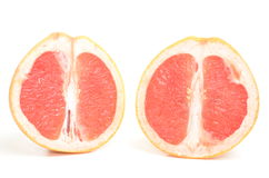 Fresh grapefruit isolated. Fresh and healthy grapefruit isolated on white Royalty Free Stock Images
